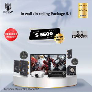 In Wall/Ceiling Home Theatre Package 5.1